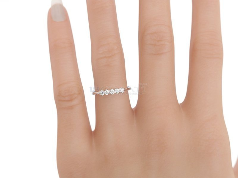 Italian Diamond Ring 0 30ct Eternity Rings 18carati